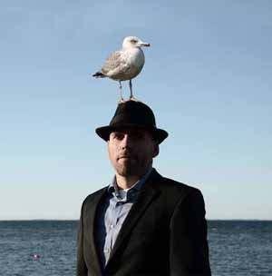 Surreal trick photography - Portrait of a seagull
