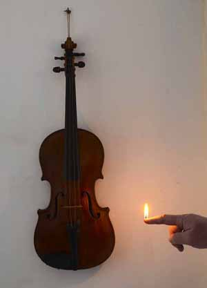 Surreal trick photography - The old violin